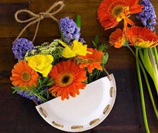 Diy may day baskets all you need is a chinet classic white plate diy may day baskets all you need is a chinet classic white plate flowers and little creativity cute ideas pinterest white plates classic white and mightylinksfo