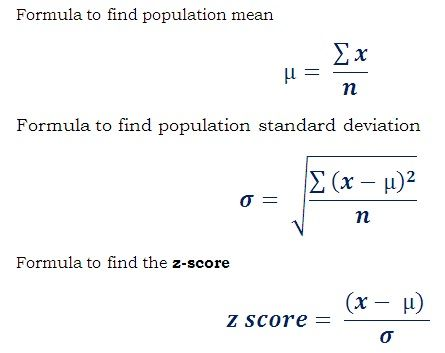 Formula To Find The Z Score Of A Population Member Http