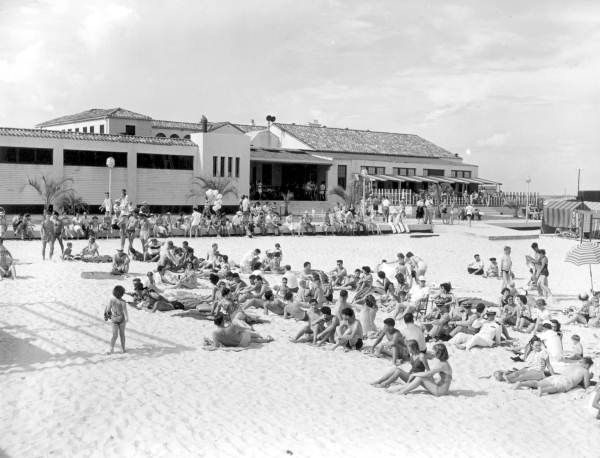 Beach Scene With Casino In The Background Pensacola Beach