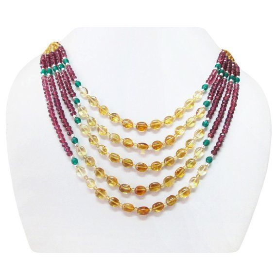 With Sterling Silver Pendants Jewelry & Watches Open-Minded Multi-colored Strand Beads Necklace