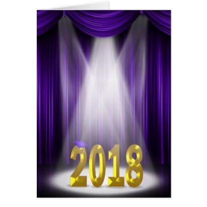2018 graduation in spotlight with purple curtain card 2018 graduation in spotlight with purple curtain card cyo customize design idea do it solutioingenieria Image collections