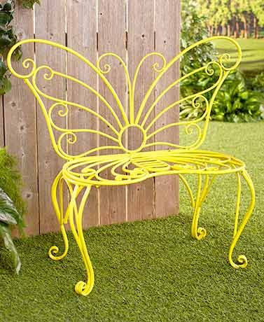 Butterfly Wreath Or Bench In 2020 Butterfly Chair Outdoor