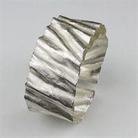 Small Ridged Cuff Bracelet