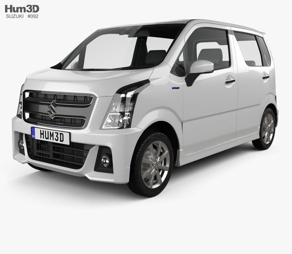 3d Model Of Suzuki Wagon R Stingray Hybrid 2018 Coches Y