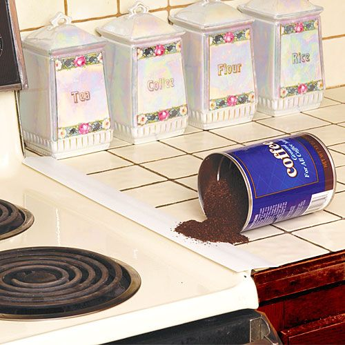 Kitchen Spills: Magnetic Counter Spill Guard With It's T-shaped Design
