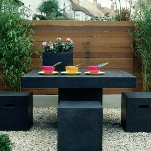Allotment garden black furniture bamboo screen fence protection c   usa  Allotment garden black furniture bamboo screen fence protection c   usa