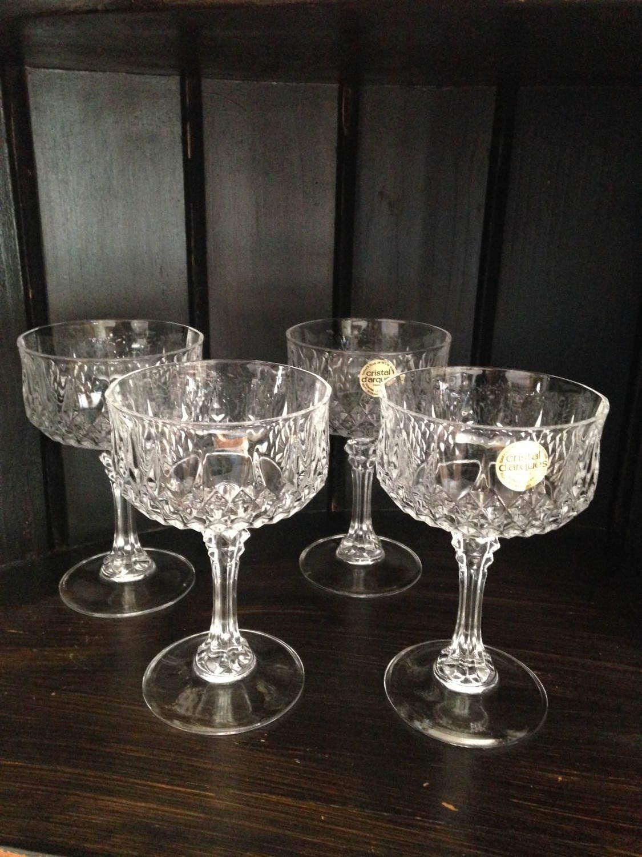 Cristal Darques France.Cristal D Arques France Crystal Longchamps Sherbet Champagne Glass
