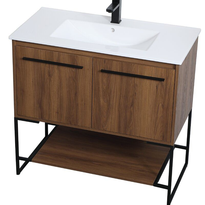 Orren Ellis Lansford 36 Single Bathroom Vanity Set Wayfair Single Bathroom Vanity Bathroom Vanity Vanity Set