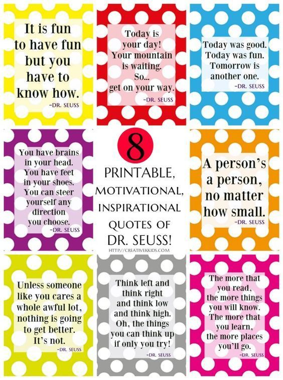 It is an image of Printable Dr Seuss Quotes throughout inspirational