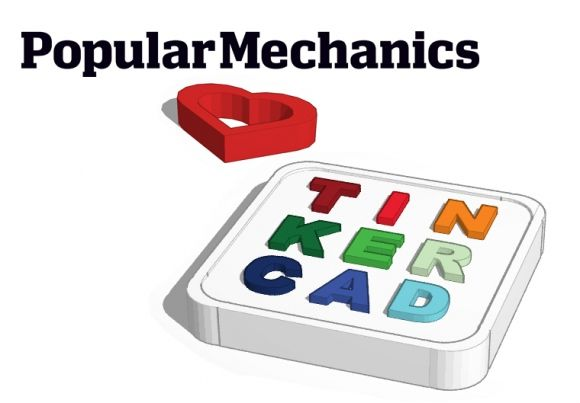 PopMech Likes Tinkercad for 3D Newbies