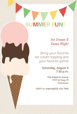 Ice Cream Printable Invitation Template Customize Add Text And Photos Prin Ice Cream Party Invitations Pool Party Invitation Template Party Invite Template