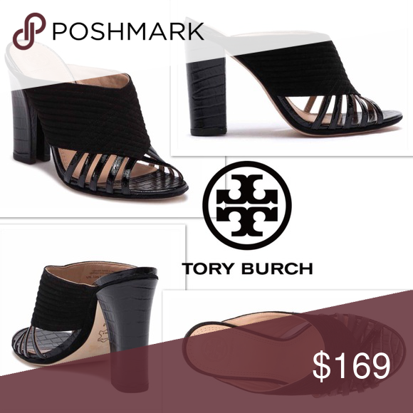 """af554048b7f9 Tory Burch wegdes Tory Burch Women s adorable black wedges size 10.5 BNIB 4  1 2"""" heel comes with box and shoe bag Tory Burch Shoes Wedges"""
