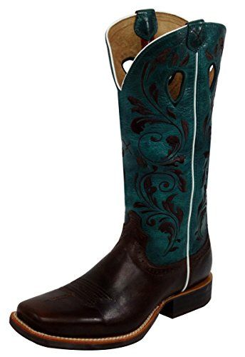 ba95d11f565 Twisted X Womens Ruff Stock Turquoise Embroidered Cowgirl Boot ...