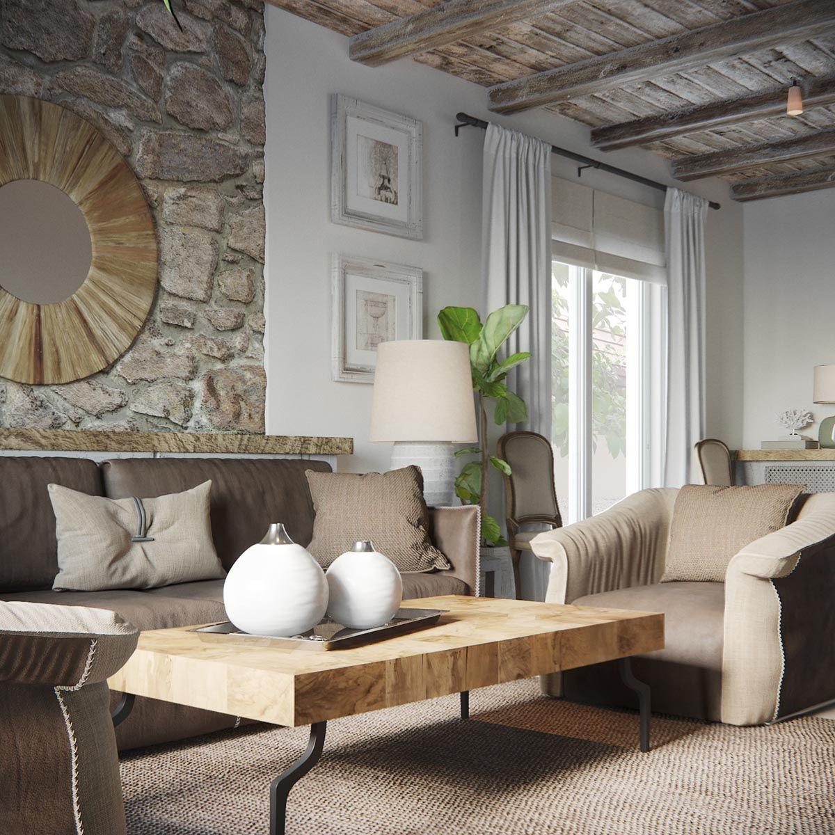 Attractive 2 Homes In Mediterranean Rustic Chic