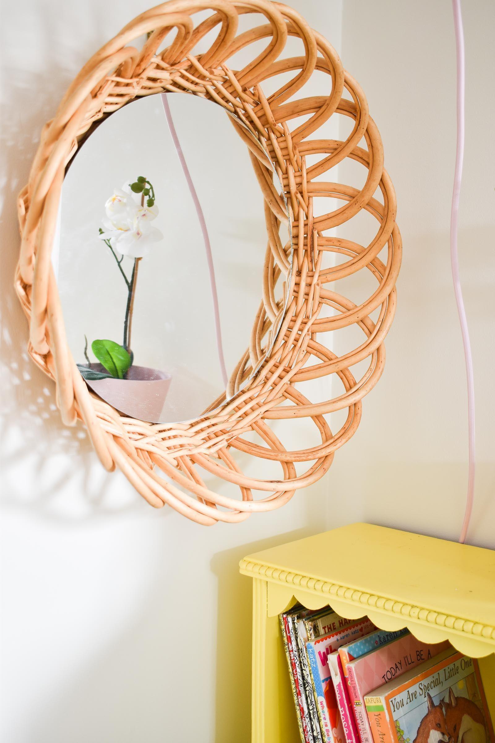 Round Rattan Mirror | Diy furniture projects, Diy mirror ...