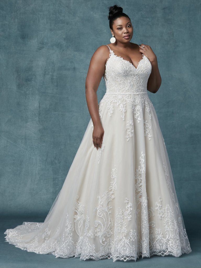 a4b37d70fc6  Maggie Sottero style 9MS030 Wallis. Sample is ivory