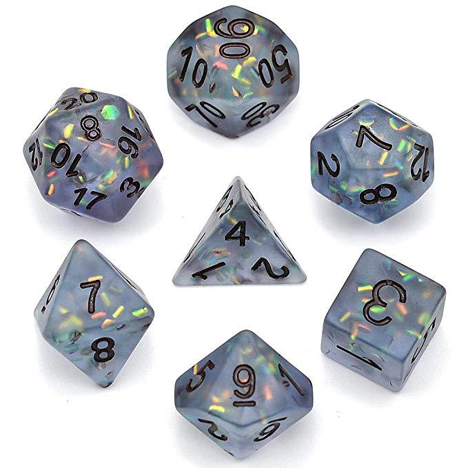 Amazon Com Cusdie Frosted Dice Polyhedral Dice Sets Dnd For