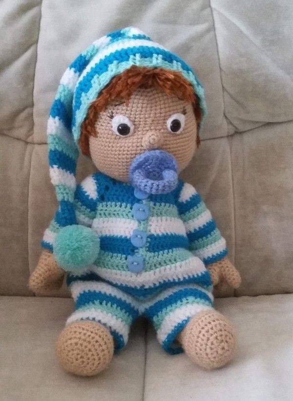Seppl Schlafmütze Häkelanleitung Peluches Crochet Pinte
