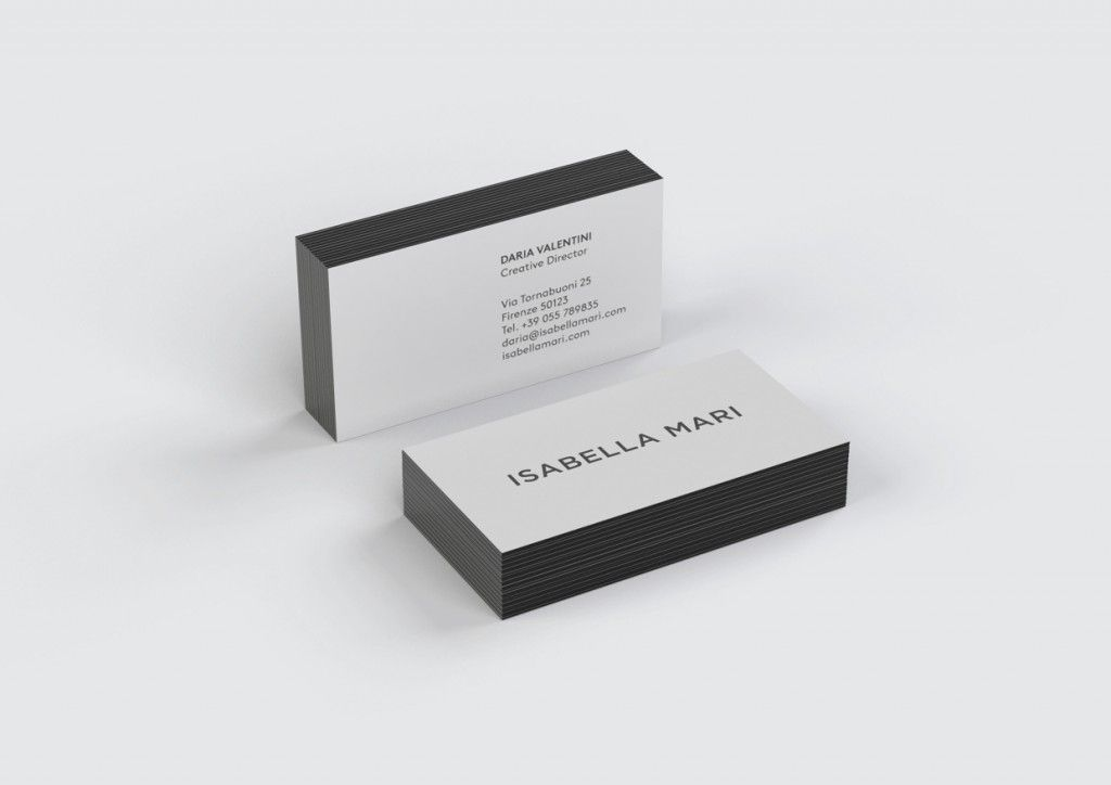 colored edge business cards - Colored Edge Business Cards