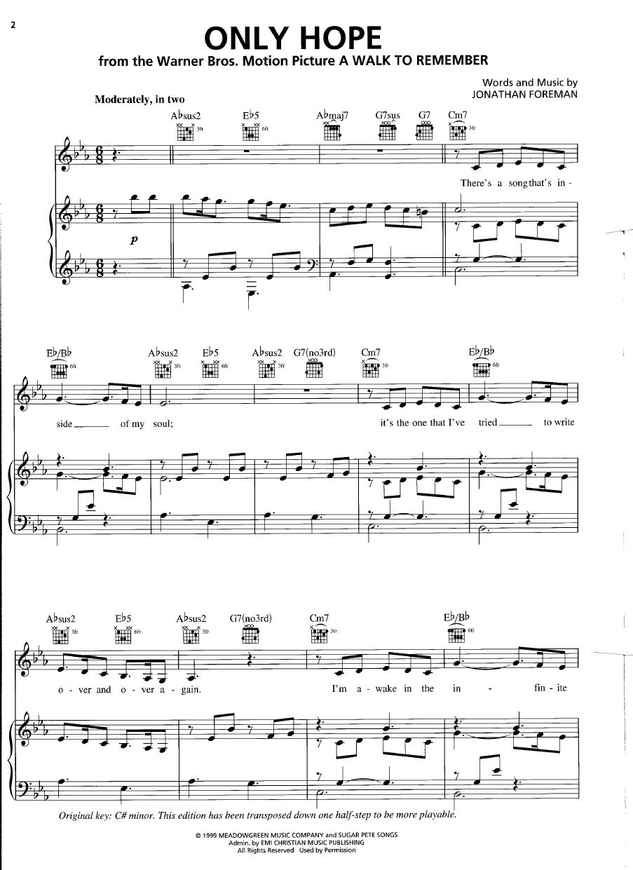Only hope switchfoot page 1 music pinterest pianos sheet piano sheet hexwebz Choice Image