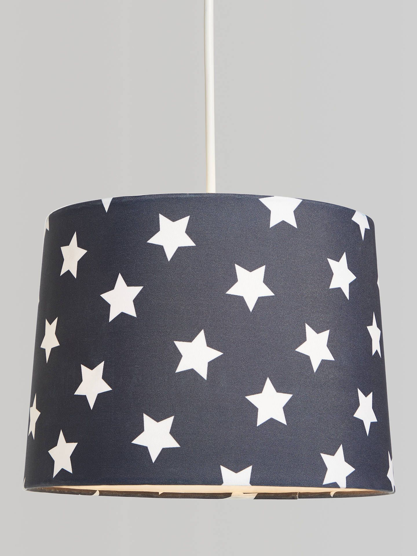 Little Home At John Lewis Star Lampshade Navy In 2020 Lamp Shades Little Houses Ceiling Lamp Shades