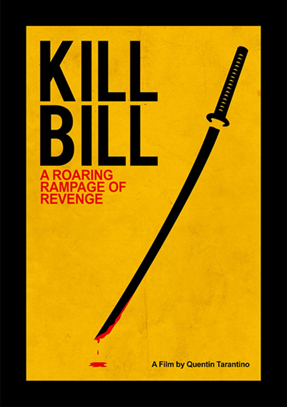 Super Kill Bill - Filmes | Posters Minimalistas | Movie posters  LP58