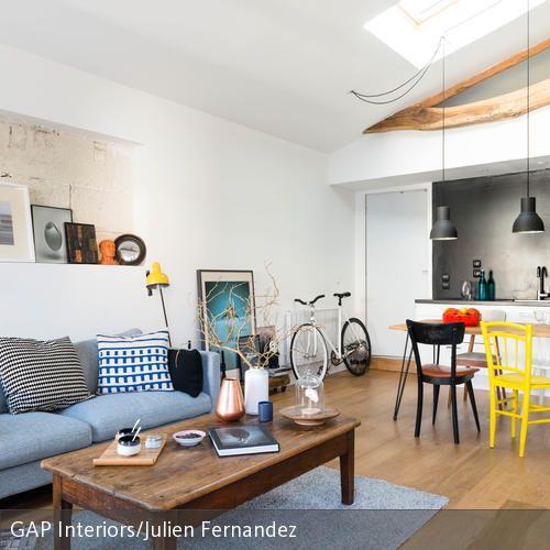 Stilmix im Loft-Wohnzimmer Small loft, Lofts and Apartments