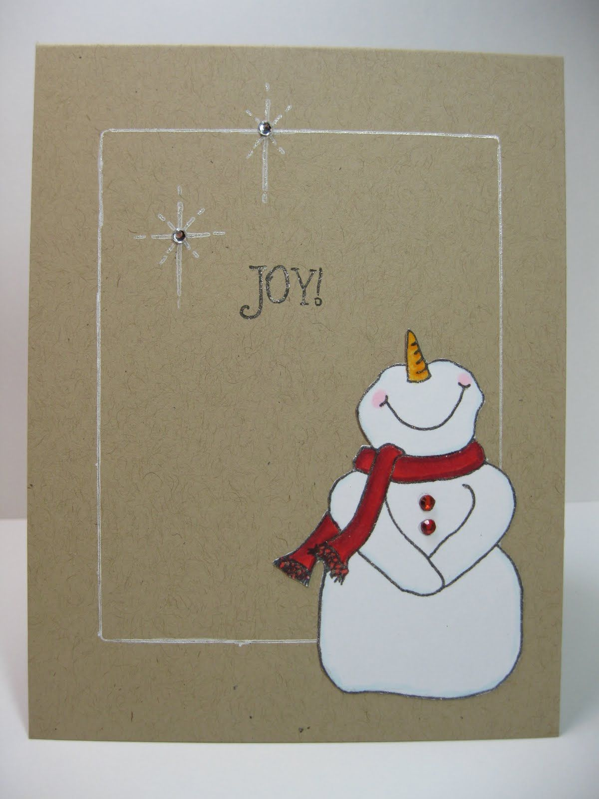 Snowman Christmas Cards Ideas.Christmas Card I M A Sucker For A Cute Snowman Diy