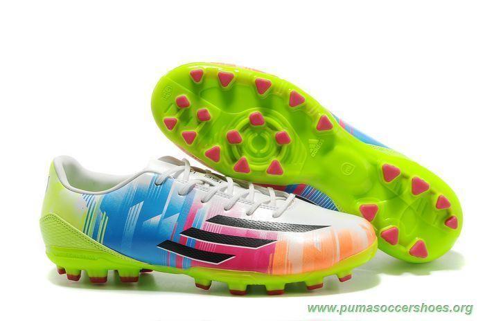060d42169961 Futsal Shoes Leo Messi ADIDAS ADIZERO F50 AG WHITE/BLACK/GREEN/PINK Mens