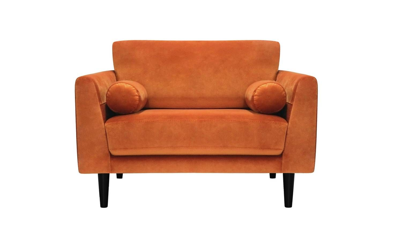 Buy Argos Home Jackson Velvet Cuddle Chair - Orange  Armchairs