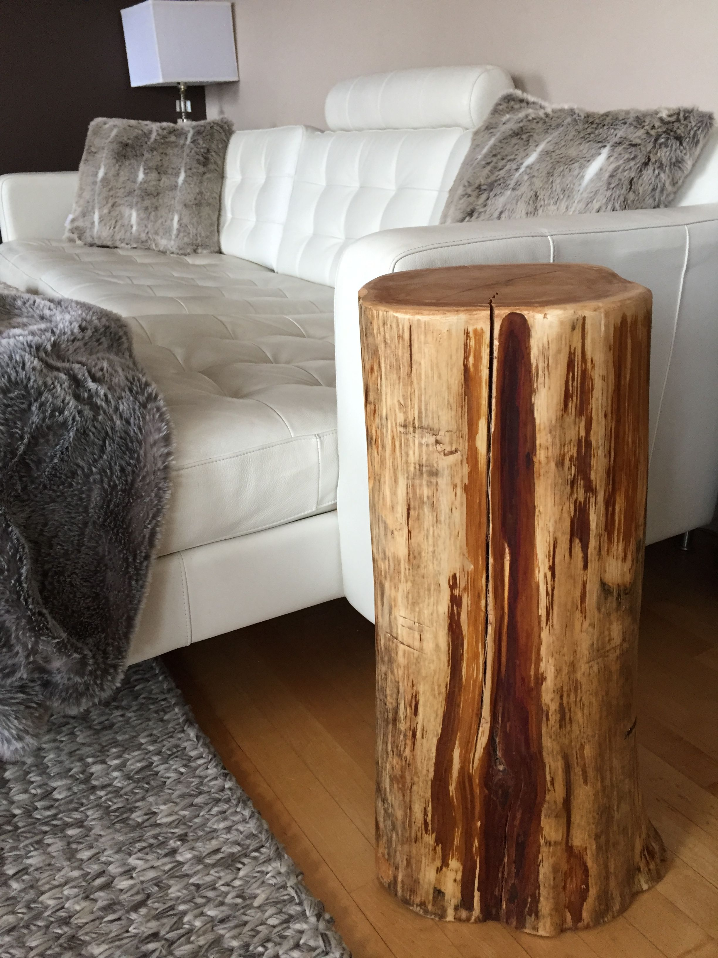 Stump End Table Tall Tree Trunk For Bedside