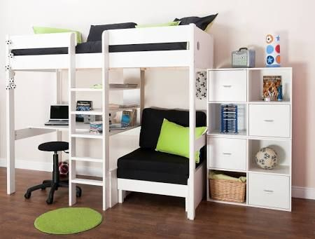 Cabin Bed With Desk And Futon Google Search Cool Beds In