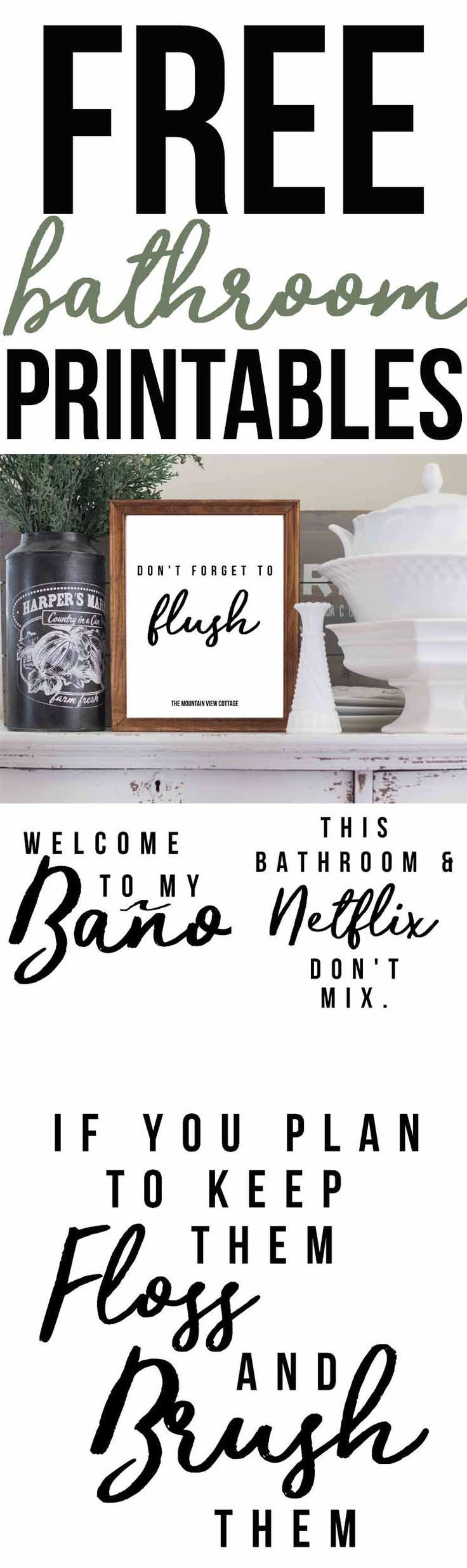 free bathroom printables-farmhouse printables | printables