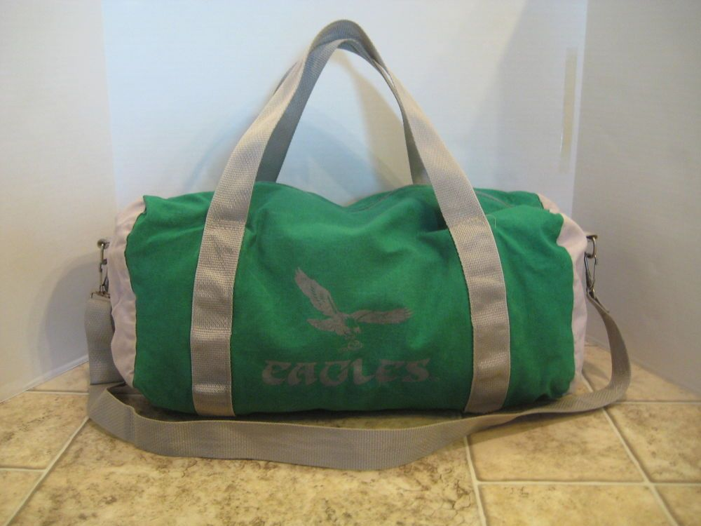 ddc14fc61d Vintage Philadelphia Eagles Canvas Duffle Bag Team Sports NFL Old School