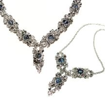 Crystal Drop Necklace - Around the Beading Table