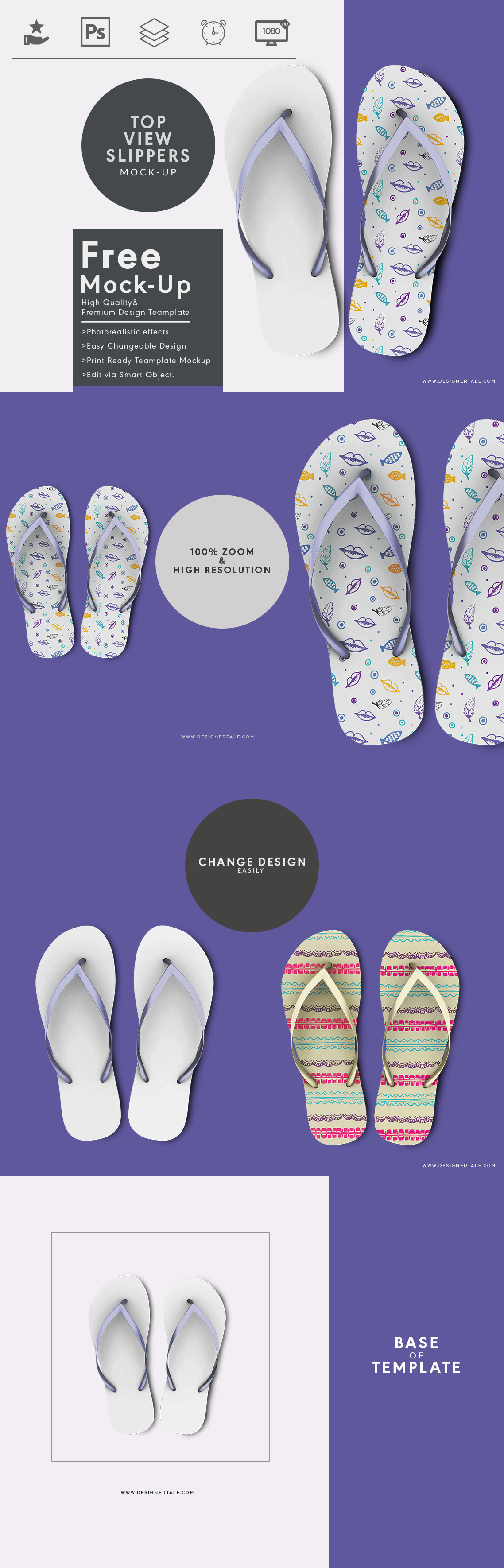 204ade2762aa6 Top view slippers mock up | Download Free PSD Mockup | Mockup, Top ...