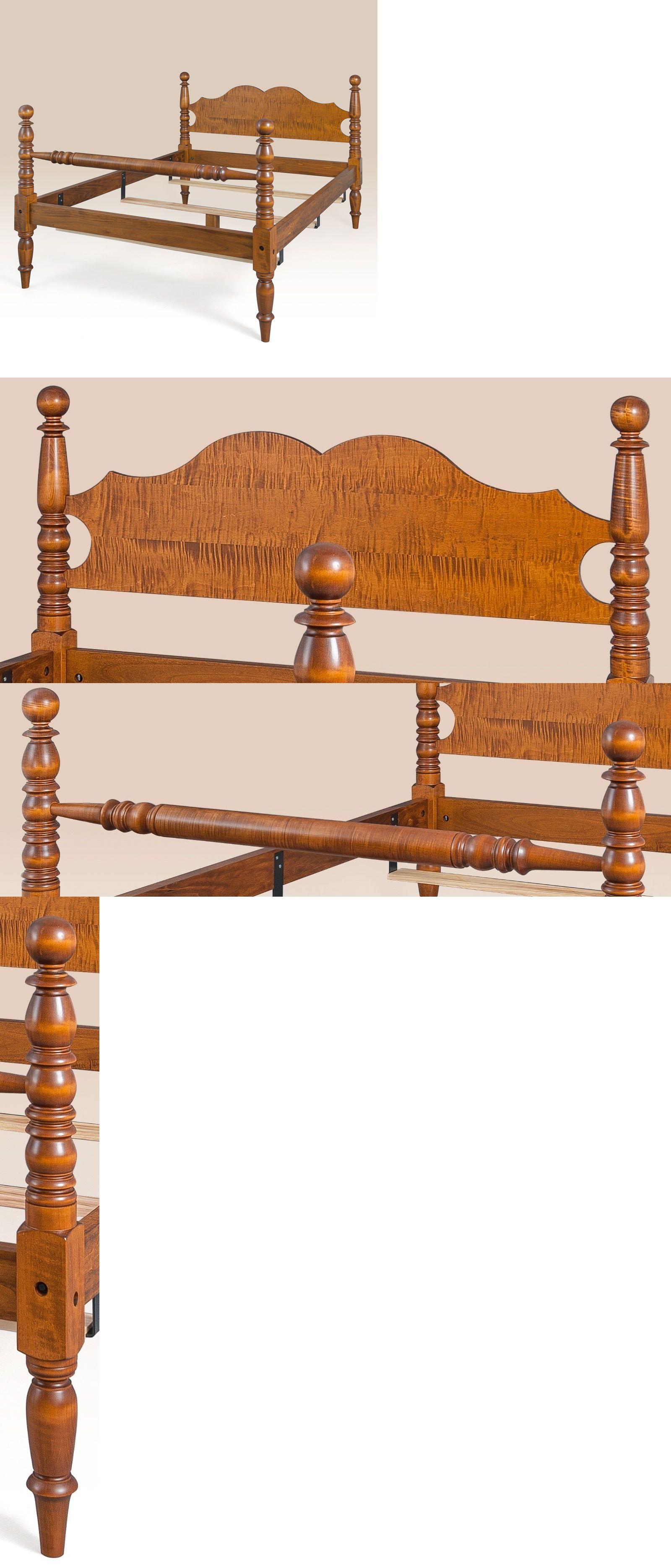 Beds and Bedroom Sets 63549: King Bed Frame Tiger Maple Wood ...