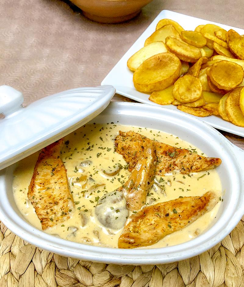 Recette poulet à la crème et aux champignons Recette