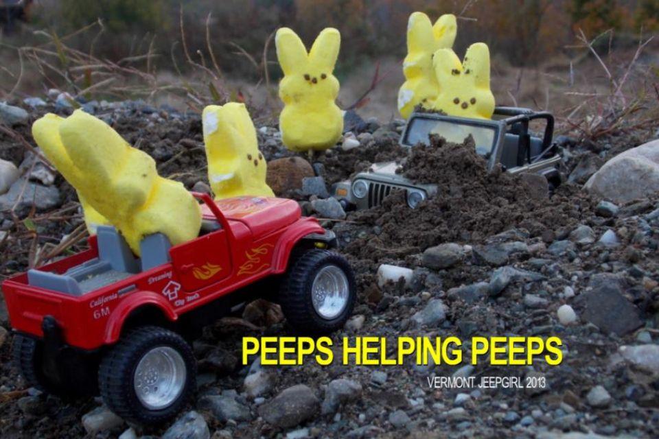 Peeps in jeeps help other peeps in jeeps! Jeep nation!