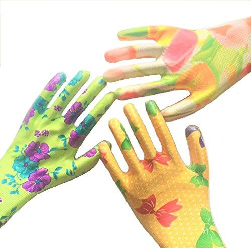 Gardening gloves for women from Star Quality Products offers Medium Size   6 Pairs of Assorted Colors Visit the image link more details.