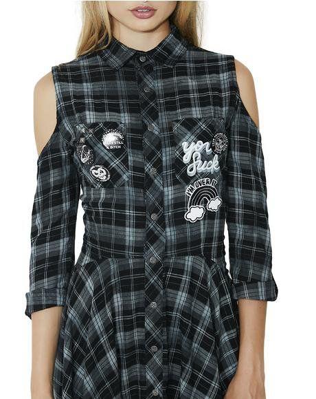 Polly Woven Shirt Dress   Killstar clothing, Woven shirt