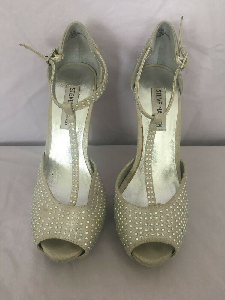 c4c98485e83 Steven Madden High Heels - Size 7 - Worn condition - FAUX DIAMOND ...