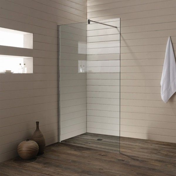 Glass Shower Wall Panels Wooden Floor Glass shower wall