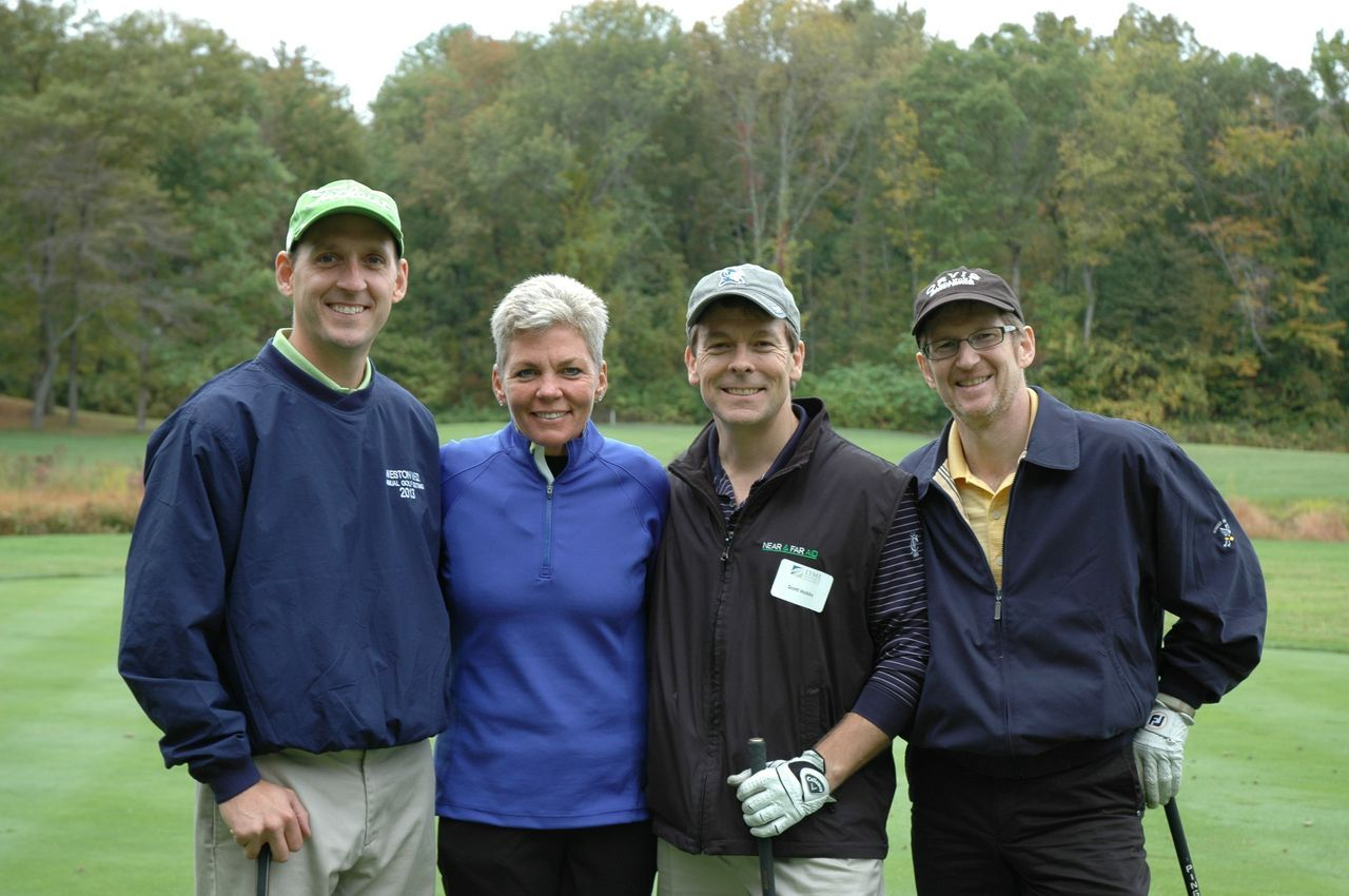 the foursome of from left jack dowling gina zangrillo scott the foursome of from left jack dowling gina zangrillo scott hobbs and