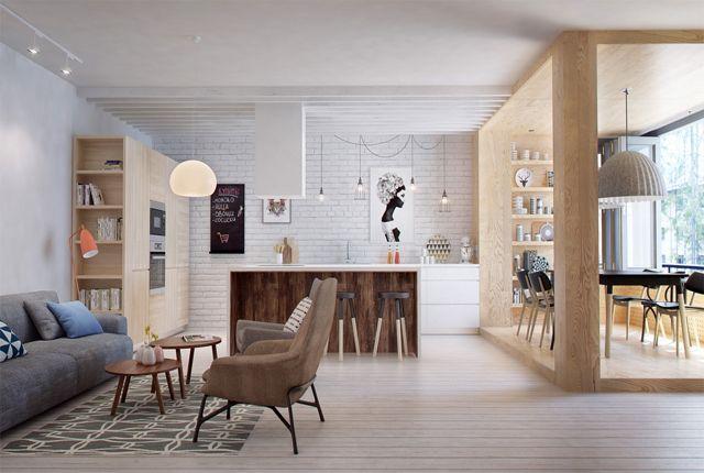 INT2 Architecture ha diseñado esta vivienda de estilo nórdico en la que se pueden ver las ultimas tendencias en interiorismo, creando un espacio cálido y acogedor.