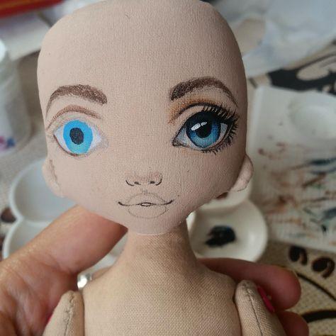 Painted doll. #dollfacepainting