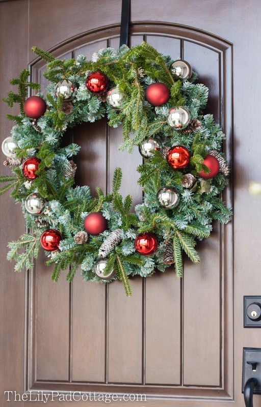 Outdoor Christmas Decor - Adventures in chainsaws and Christmas - christmas wreath decorations