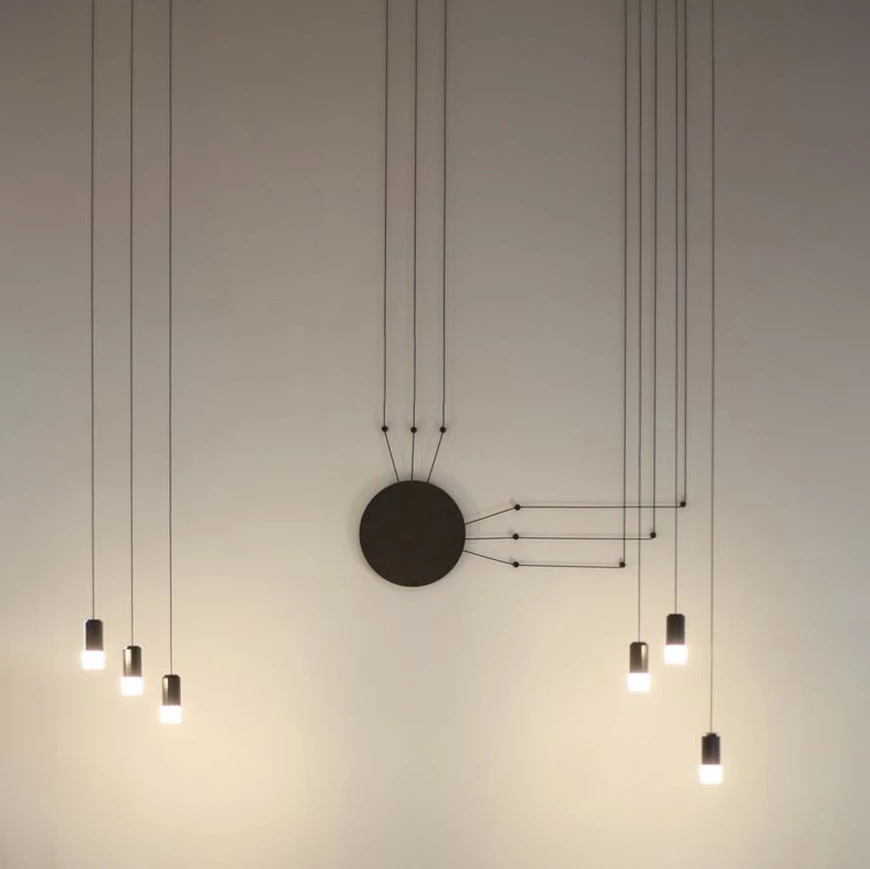 The Vibia Wireflow Free Form Pendant Light Consists Of Black Electrical Cable Connecting Light Terminals Using Connected Light Glass Pendant Lamp Pendant Light