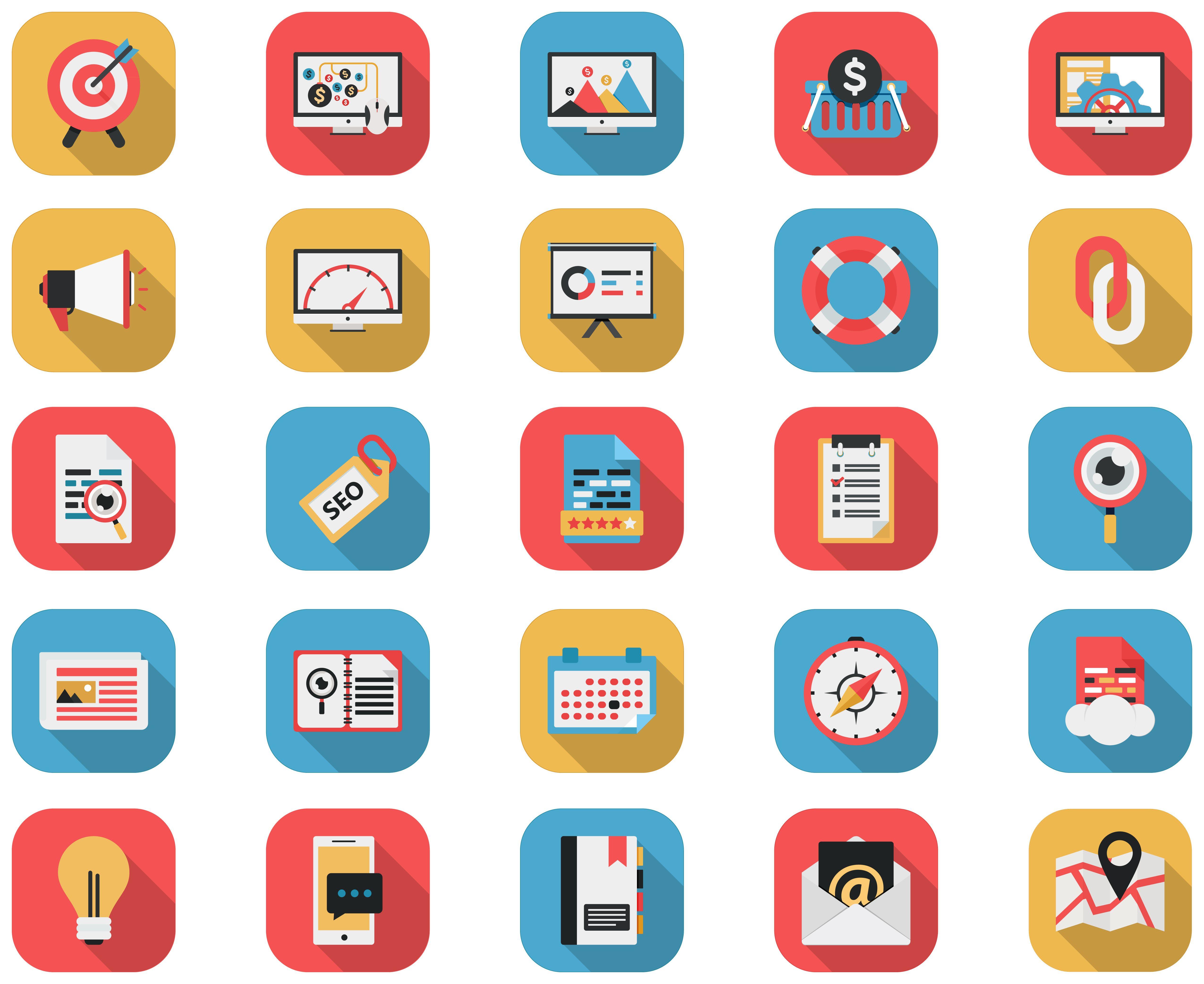 budget flat icon Google Search Marketing icon, Web