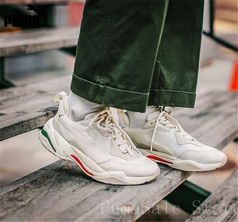 online retailer f64c7 93cb2 PUMA Mens Thunder Desert Sneakers Men Women Sports Shoes 367516-12  Badminton Shoes Thunder Spectra
